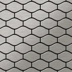 Mosaik Fliese massiv Metall Edelstahl gebürstet in grau 1, 6mm stark ALLOY Karma-S-S-B Designed by Karim Rashid 0, 86 m2