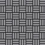 Mosaik Fliese massiv Metall Edelstahl matt in grau 1, 6mm stark ALLOY Basketweave-S-S-MA 0, 82 m2