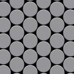 Mosaik Fliese massiv Metall Edelstahl matt in grau 1, 6mm stark ALLOY Medallion-S-S-MA 0, 73 m2