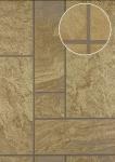 Stein-Kacheln Tapete Atlas 24C-5061-1 Luxus Vliestapete strukturiert in Steinoptik und metallischen Akzenten braun bronze gold 7, 035 m2