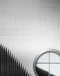 Wandverkleidung Wandpaneel WallFace 10644 M-Style Design Metall Mosaik Dekor selbstklebend spiegelnd silber | 0, 96 qm
