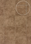 Präge Tapete Atlas SKI-5067-4 Vliestapete geprägt in Felloptik schimmernd braun oliv-braun perl-beige 7, 035 m2