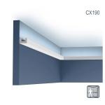 Eckleiste Orac Decor CX190 AXXENT U-PROFILE Eckleiste für Indirekte Beleuchtung Zierleiste Stuckleiste zeitloses klassisches Design weiß 2 m