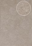 Spachtel-Putz Tapete Atlas INS-5079-8 Strukturtapete geprägt und Metallic Effekt braun grau-beige blass-braun 7, 035 m2