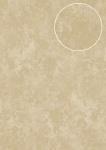 Ton-in-Ton Tapete Atlas ATT-8115-2 Vliestapete strukturiert mit Rauten Muster schimmernd creme hell-elfenbein gold 7, 035 m2