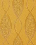 Retro Tapete EDEM 1018-11 Retrotapete geschwungene Designer Linien mit Ornamenten 70er Retro dezent glitzernd gold gelb bronze