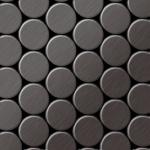Mosaik Fliese massiv Metall Titan gebürstet in dunkelgrau 1, 6mm stark ALLOY Dome-Ti-SB 0, 73 m2