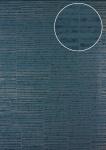 Streifen Tapete Atlas 24C-5056-1 Vliestapete glatt mit grafischem Muster und Metallic Effekt blau blau-grau granit-grau silber 7, 035 m2