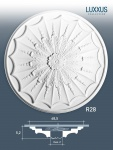 Stuckrosette Stuck Orac Decor R28 LUXXUS Rosette Zierrosette Stuck Dekor Element weiß | 68, 5 cm Durchmesser