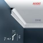 Stuckleiste Zierleiste Profilleiste Orac Decor CX142 AXXENT Kantenleiste Stuck Eckleiste Wand Decken Leiste 2 Meter