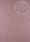 Grafik Tapete Atlas 24C-5057-4 Vliestapete strukturiert mit abstraktem Muster und Metallic Effekt lila violett kupfer 7, 035 m2