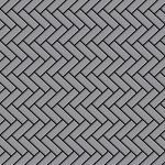 Mosaik Fliese massiv Metall Edelstahl matt in grau 1, 6mm stark ALLOY Herringbone-S-S-MA 0, 94 m2