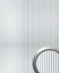 Wandpaneel 3D Rillen-Struktur WallFace 11355 WAVE Verkleidung Metalloptik selbstklebend silber metallic   2, 60 qm