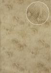 Tiermotiv Tapete Atlas STI-5100-2 Vliestapete geprägt mit Schlangenmuster schimmernd beige elfenbein grau-beige 7, 035 m2