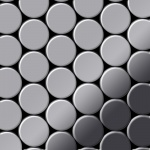 Mosaik Fliese massiv Metall Edelstahl marine hochglänzend in grau 1, 6mm stark ALLOY Dome-S-S-MM 0, 73 m2