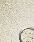 3D Wandpaneel WallFace 13415 FLORAL Luxus Leder Dekor Barock Blumen selbstklebende Tapete Verkleidung weiß gold | 2, 60 qm