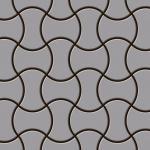 Mosaik Fliese massiv Metall Edelstahl matt in grau 1, 6mm stark ALLOY Infinit-S-S-MA Designed by Karim Rashid 0, 91 m2