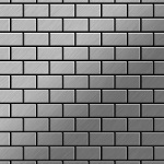 Mosaik Fliese massiv Metall Edelstahl gebürstet in grau 1, 6mm stark ALLOY House-S-S-B 0, 98 m2