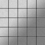 Mosaik Fliese massiv Metall Edelstahl marine gebürstet in grau 1, 6mm stark ALLOY Century-S-S-MB 0, 5 m2