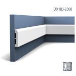 Türumrandung Orac Decor DX183-2300 AXXENT CASCADE Sockelleiste Wandleiste Modernes Design weiß 2, 3m