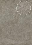 Grafik Tapete Atlas STI-5106-3 Vliestapete geprägt in Felloptik schimmernd silber perl-hell-grau stein-grau platin-grau 7, 035 m2