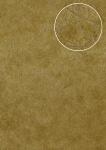 Grafik Tapete Atlas STI-5106-4 Vliestapete geprägt in Felloptik schimmernd gold oliv-gelb ocker-gelb perl-gold 7, 035 m2