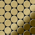 Mosaik Fliese massiv Metall Titan hochglänzend in gold 1, 6mm stark ALLOY Dome-Ti-GM 0, 73 m2