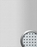 Wandpaneel Quadratloch 3D Dekor WallFace 10988 QUAD Design Wandplatte selbstklebend silber metallic | 2, 60 qm