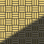 Mosaik Fliese massiv Metall Messing gewalzt in gold 1, 6mm stark ALLOY Basketweave-BM 0, 82 m2