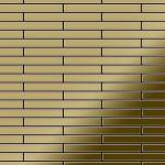 Mosaik Fliese massiv Metall Titan hochglänzend in gold 1, 6mm stark ALLOY Deedee-Ti-GM 0, 63 m2