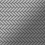 Mosaik Fliese massiv Metall Edelstahl gebürstet in grau 1, 6mm stark ALLOY Herringbone-S-S-B 0, 94 m2
