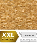 3D Stein Vliestapete EDEM 918-33 XXL geprägte Naturstein Bruchstein-Optik hochwertig sand beige 10, 65 qm