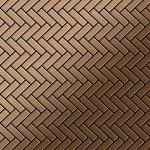 Mosaik Fliese massiv Metall Titan gebürstet in kupfer 1, 6mm stark ALLOY Herringbone-Ti-AB 0, 85 m2