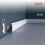 Sockelleiste Fußleiste von Orac Decor SX165 AXXENT Profilleiste Wand Boden Leiste mit Kabelschutz Funktion | 2 Meter