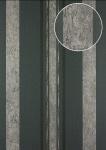 Streifen Tapete Atlas 24C-5059-1 Vliestapete glatt mit grafischem Muster und metallischen Akzenten grau graphit-grau schwarz silber 7, 035 m2