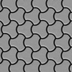 Mosaik Fliese massiv Metall Edelstahl matt in grau 1, 6mm stark ALLOY Ubiquity-S-S-MA Designed by Karim Rashid 0, 75 m2