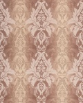 3D Barock-Tapete Damask EDEM 770-33 Luxus Tapete hochwertige 3D Brokat Struktur kakao braun hellbraun