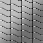 Mosaik Fliese massiv Metall Edelstahl marine gebürstet in grau 1, 6mm stark ALLOY Flux-S-S-MB Designed by Karim Rashid 0, 86 m2