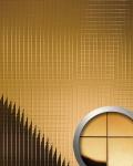 Wandpaneel Wandverkleidung WallFace 10582 M-Style Design Metall Mosaik Dekor selbstklebend spiegelnd gold | 0, 96 qm
