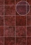 Präge Tapete Atlas SKI-5067-5 Vliestapete geprägt in Felloptik schimmernd rot purpur-rot schwarz-rot perl-beige 7, 035 m2