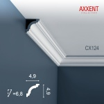 Zierleiste Profilleiste Orac Decor CX124 AXXENT Stuckleiste Stuck Profil Eckleiste Wand Leiste Decken Leiste 2 Meter