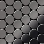 Mosaik Fliese massiv Metall Titan hochglänzend in dunkelgrau 1, 6mm stark ALLOY Dome-Ti-SM 0, 73 m2