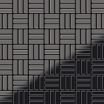 Mosaik Fliese massiv Metall Titan hochglänzend in dunkelgrau 1, 6mm stark ALLOY Basketweave-Ti-SM 0, 82 m2