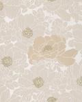 Blumen Tapete EDEM 025-23 Blumentapete Designer Floral harmonische Farbkombination beige perlweiß kakao-braun bronze