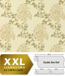 Blumen Tapete Vliestapete EDEM 946-21 Luxus Blumentapete Blätter-Muster Barock-Blumendekor cremeweiß olivgrün gold 10, 65 qm