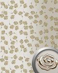 Dekorpaneel Rosen Dekor WallFace 13920 3D ROSE Blumen Design Paneel selbstklebend gold champagner | 2, 60 qm