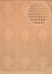Grafik Tapete Atlas ICO-5074-4 Vliestapete glatt mit geometrischen Formen und metallischen Akzenten beige gold sepia-braun 7, 035 m2