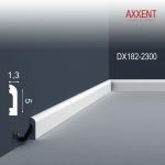 Türumrandung Orac Decor DX182-2300 AXXENT CASCADE Sockelleiste Wandleiste Modernes Design weiß 2, 3m