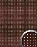 Wandpaneel Wandplatte WallFace 10059 3D QUAD Quadrat Dekor Holz Design selbstklebend mahagoni silber | 2, 60 qm