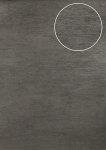 Uni Tapete Atlas TEM-5114-5 Vliestapete strukturiert im Shabby Chic Stil und Metallic Effekt silber platin-grau grau-aluminium 7, 035 m2